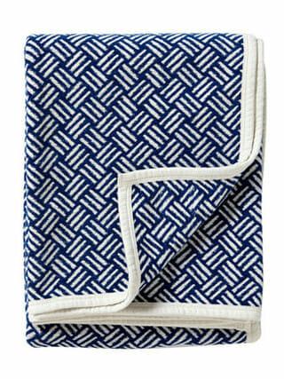 Klippan deken organic cotton Samba royal blue