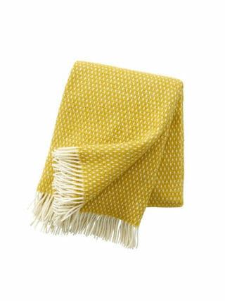 Klippen plaid Knut geel