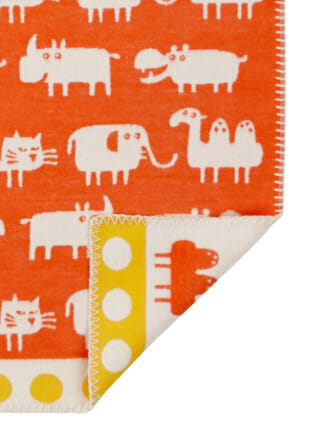 Klippan Africa oranje plaid