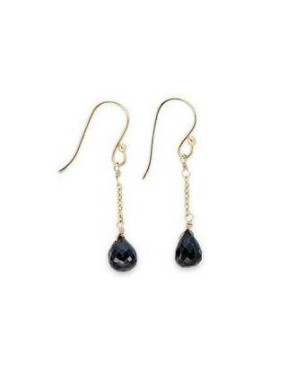 Nkuku oorbellen zwarte onyx met goud