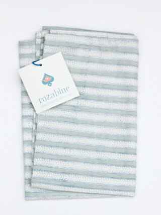 Theedoek Funkystripes sky gray