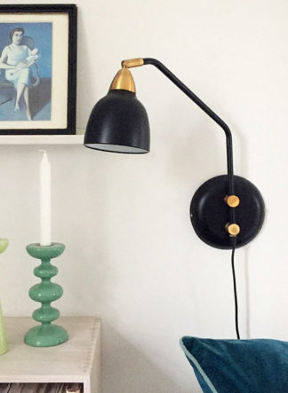 zwart muurlamp superliving