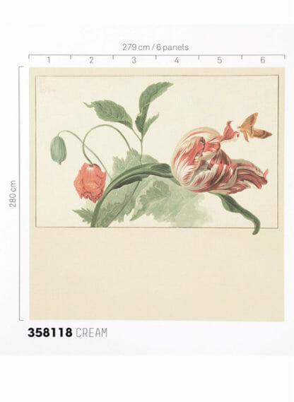 Eijffinger Masterpiece Wallpower 358118 Tulip and Poppy cream
