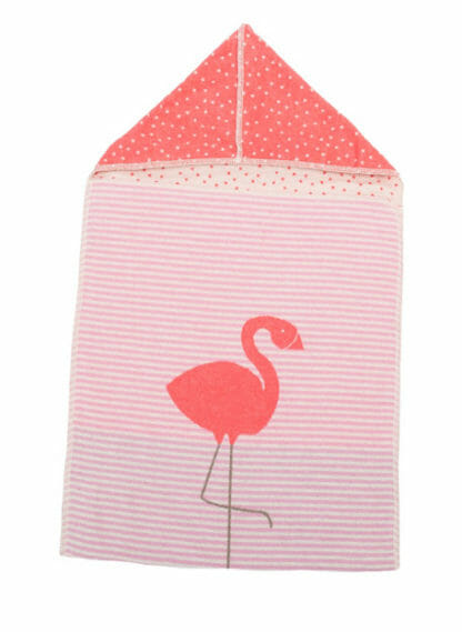 badcape met flamingo opdruk