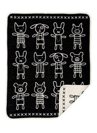 deken kinderen klippan hug zwart