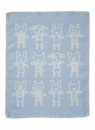 deken voor kinderen van klippan blauw