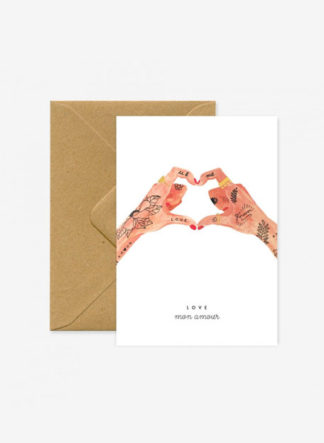 hands of love a6 kaart