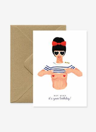 hey sexy verjaardagskaart