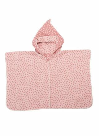 kinderponcho dots roze