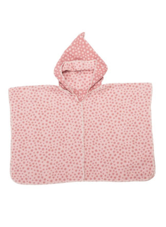 kinderponcho dots roze