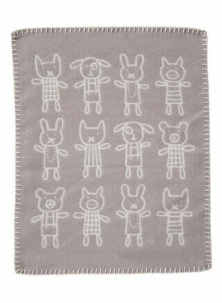 klippan deken voor kinderen grijs