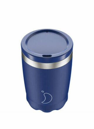 Chilly's koffiebeker voor onderweg coffee cup 340ml Blue Matte