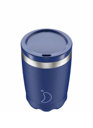 Chilly's koffiebeker voor onderweg coffee cup 340ml Blue Matte