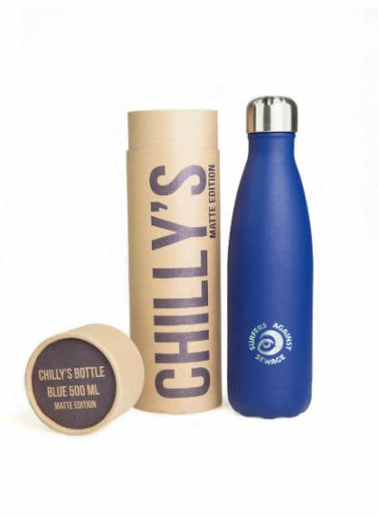 chilly waterfles bottle matte blue 500 ml