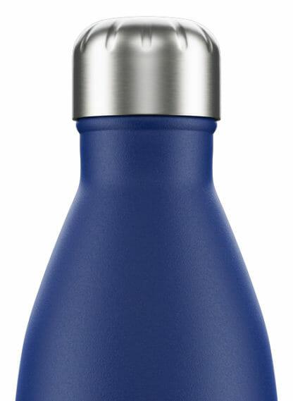 chilly drinkfles bottle matte blue 500 ml detail