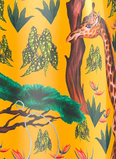 detail tropical giraffe chillys drinkfles