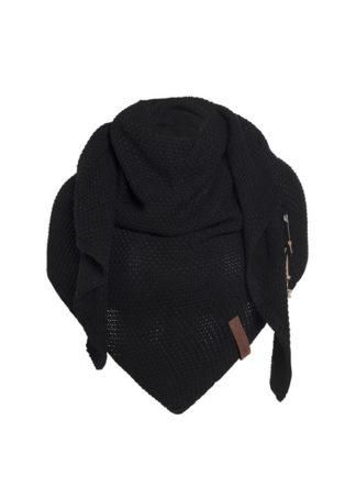 knit factory coco omslagdoek zwart