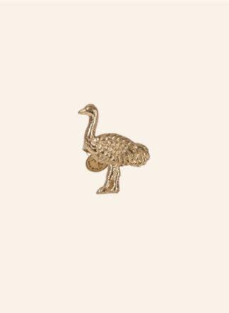 servetring met een struisvogel
