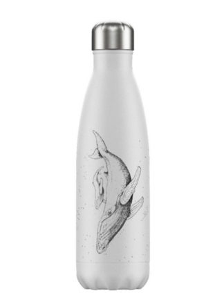 chilly's bottle sealife whale thermosfles met print