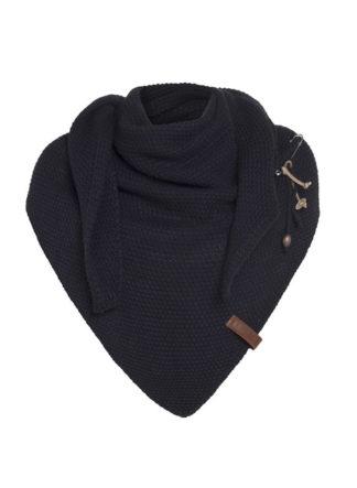 coco omslagdoek van knit factory kleur navy