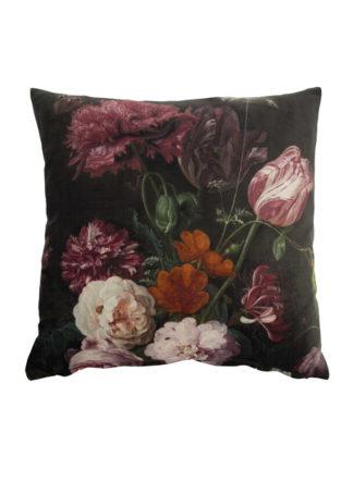 fluwelen woonkussen van au maison bouquet evergreen