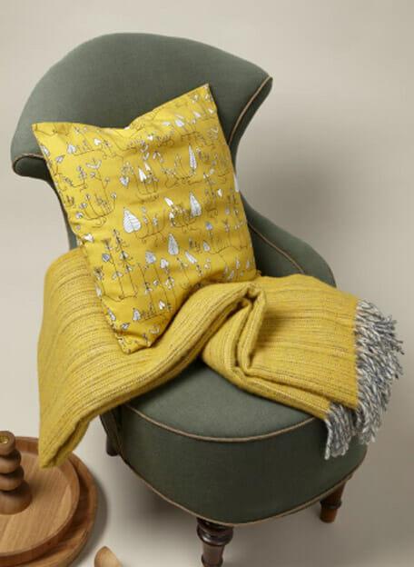 geel klippan plaid lamswol