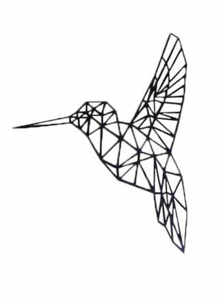 geometrisch dier kolibrie van MDF