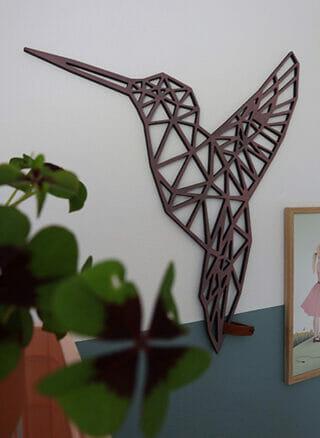 geometrische kolibrie van mdf