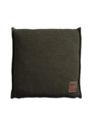 knit factory groen woonkussen 50x50