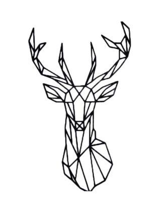 mdf hert geometrische vorm voor aan de muur