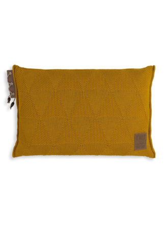 okergeel woonkussen knit factory