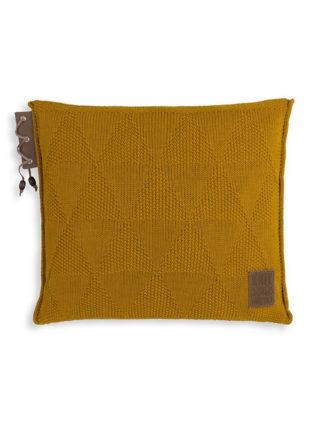 okergeel woonkussen knit factory 50x50cm
