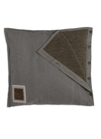 olijfgroen rick kussen knit factory