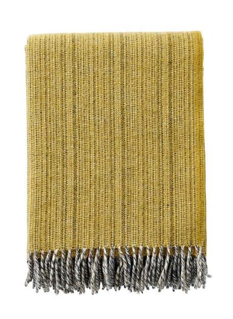 plaid klippan dusty yellow eco lamswol