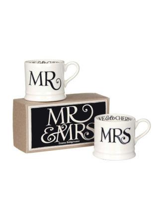 Boxed mokken Mr & Mrs Black Toast