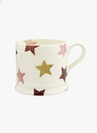 kleine mok emma bridgewater stars pink goud