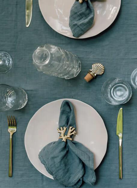 Servet grijsblauw