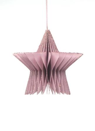 kerst ornament roze glitter