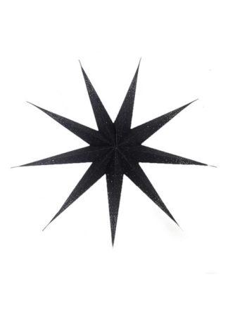 zwarte kerstster met glitter