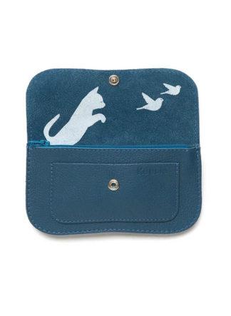 Portemonnee, Cat Chase Medium, Faded Blue