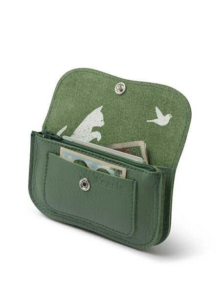 forest green wallet beurs keecie