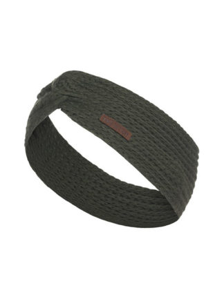 Knit Factory Joy hoofdband khaki