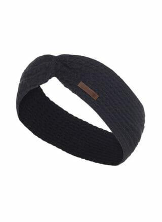 Knit Factory Joy hoofdband navy blauw