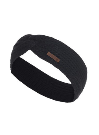 Knit Factory Joy hoofdband zwart