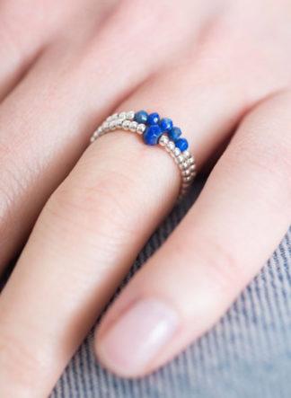 Lapis Lazuli Zilver Ring S/M