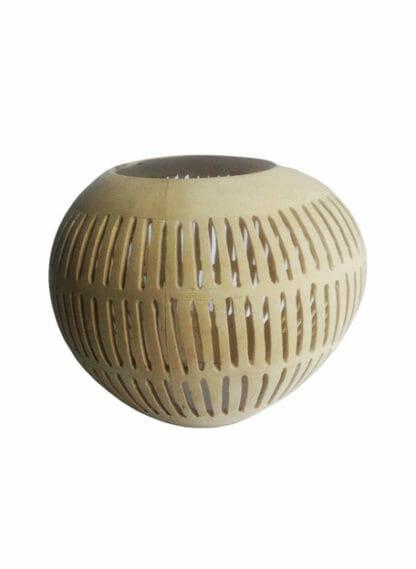 Waxinelichthouder kokosnoot Dayo