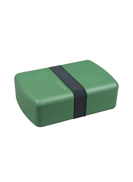 zuperzozial groene bpa bioplastic lunchbox met verdeler