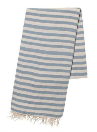 Hamamdoek Stripe Duifblauw