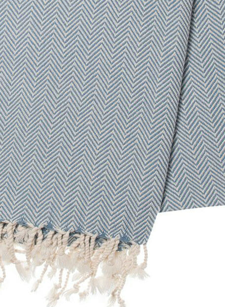 detail duifblauw hamamdoek