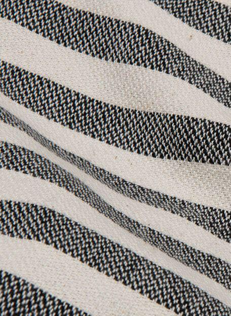 detail hamamdoek gestreept zwart